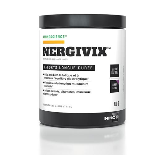 NERGIVIX™ - long term exercise, contribue à réduire la fatigue et à maintenir l'équilibre électrolytique. Contribue à la fonction musculaire normale.